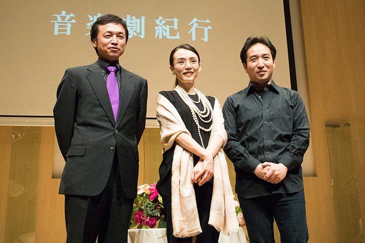 左より)加藤昌則、中嶋朋子、田尾下哲 ( Photo:M.Otsuka/TokyoMDE)