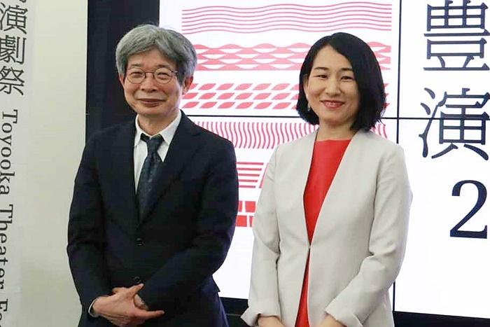 (左から)「豊岡演劇祭2021」フェスティバルディレクターの平田オリザ氏、総合プロデューサーの相馬千秋氏。