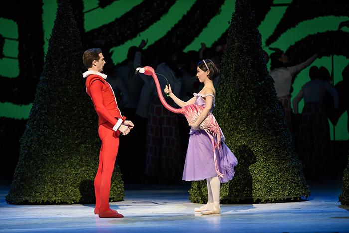 Alice in Wonderland. Nehemiah Kish as the Knave of Hearts, Yuhui Choe as Alice.