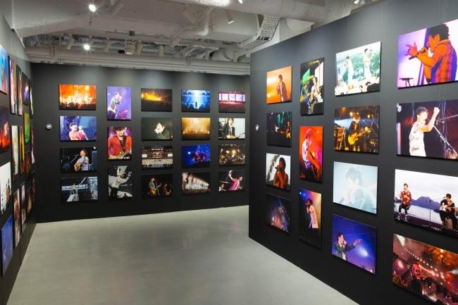 様々な年代の過去のLive写真を展示