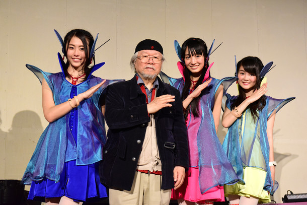Cupitronと松本零士(左から2番目)。