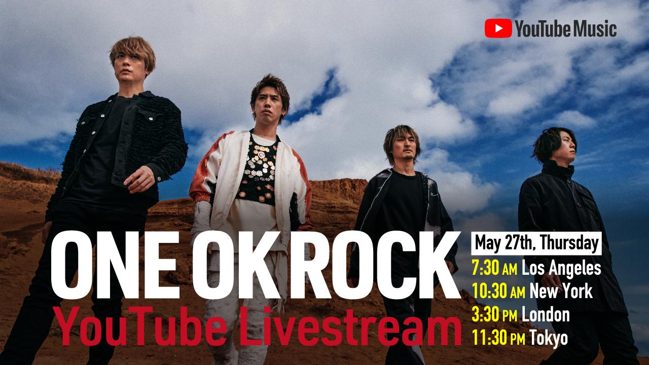ONE OK ROCK YouTube Livestream 告知画像
