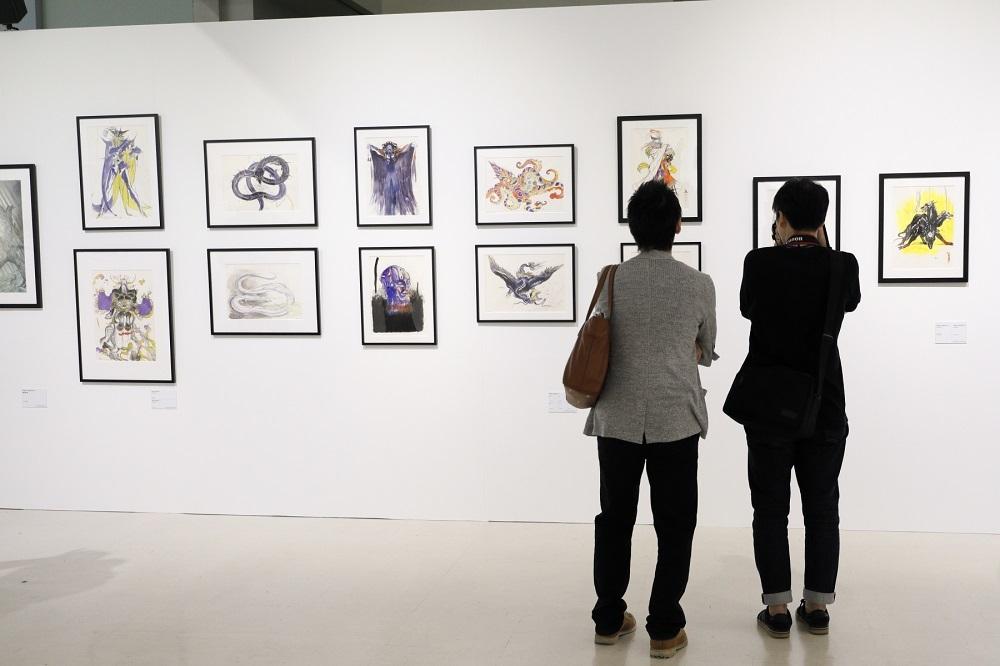 『ファイナルファンタジー』シリーズのイメージイラスト原画が約150点展示されるのは過去最多