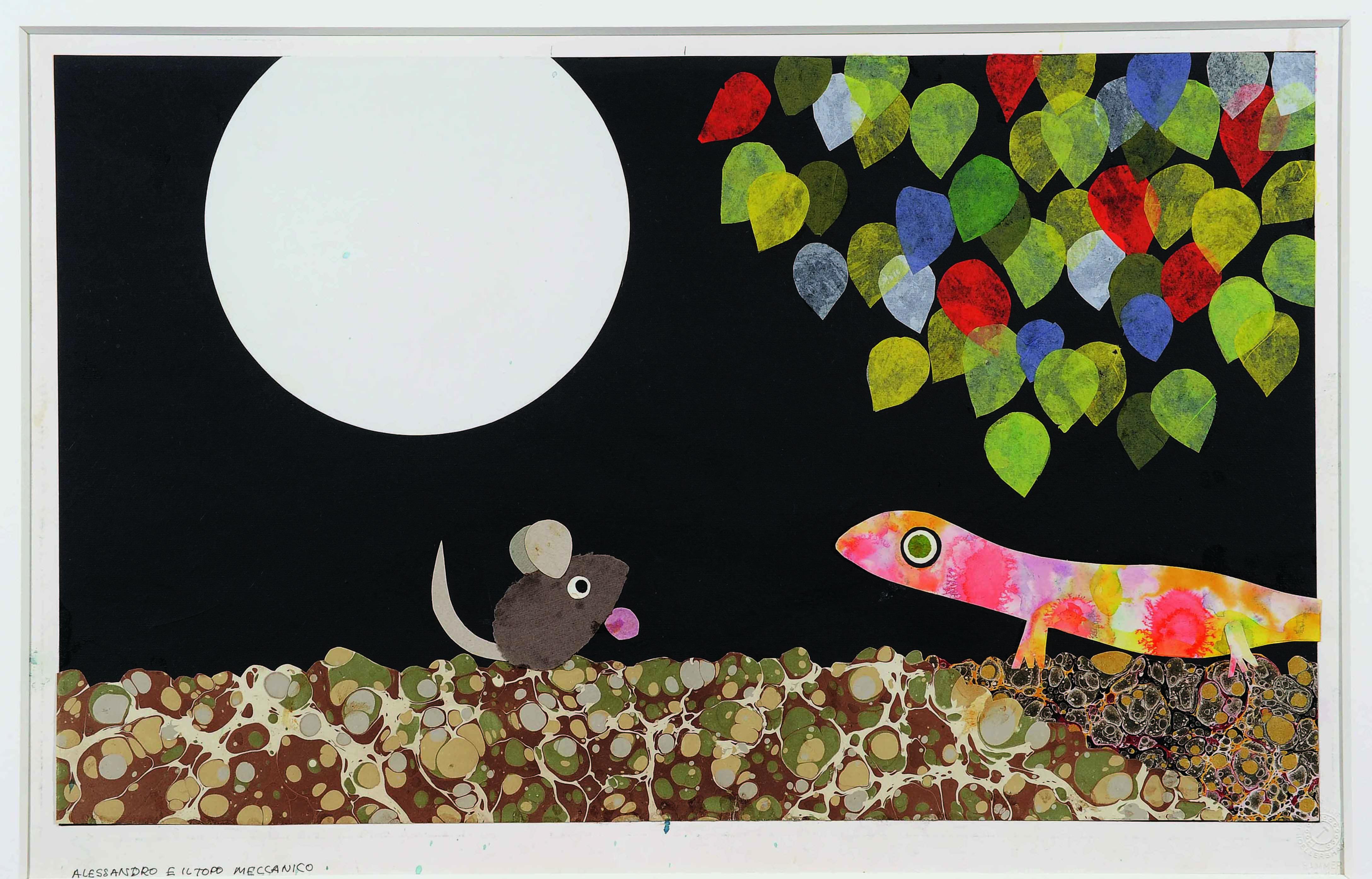 「アレクサンダとぜんまいねずみ」 1969年 コラージュ、紙 51×63.6cm Alexander and the Wind-up Mouse (C)1969, renewed  1997 by Leo Lionni / Pantheon Works by Leo Lionni, On Loan By The Lionni Family