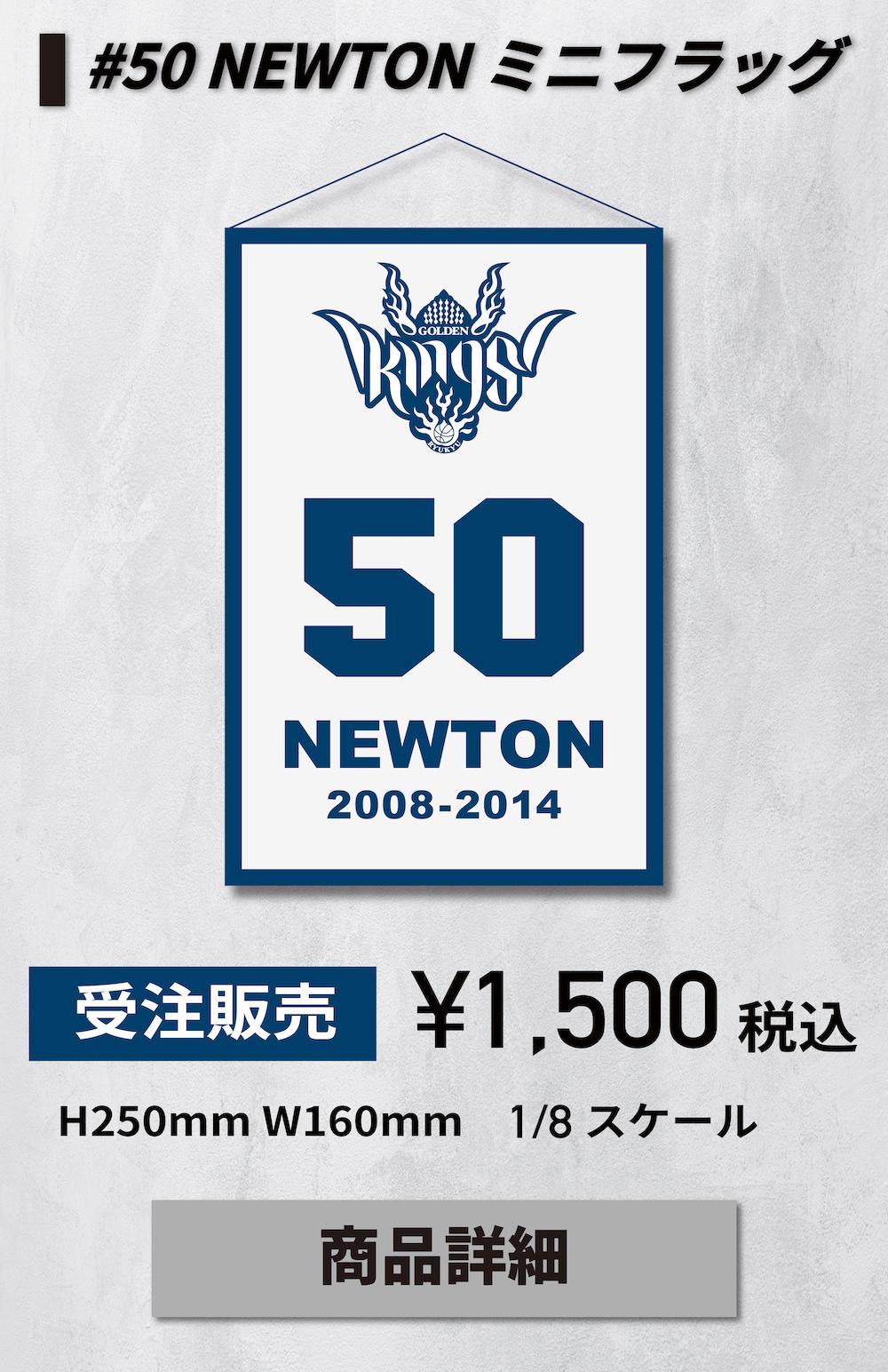 #50 NEWTON ミニフラッグ
