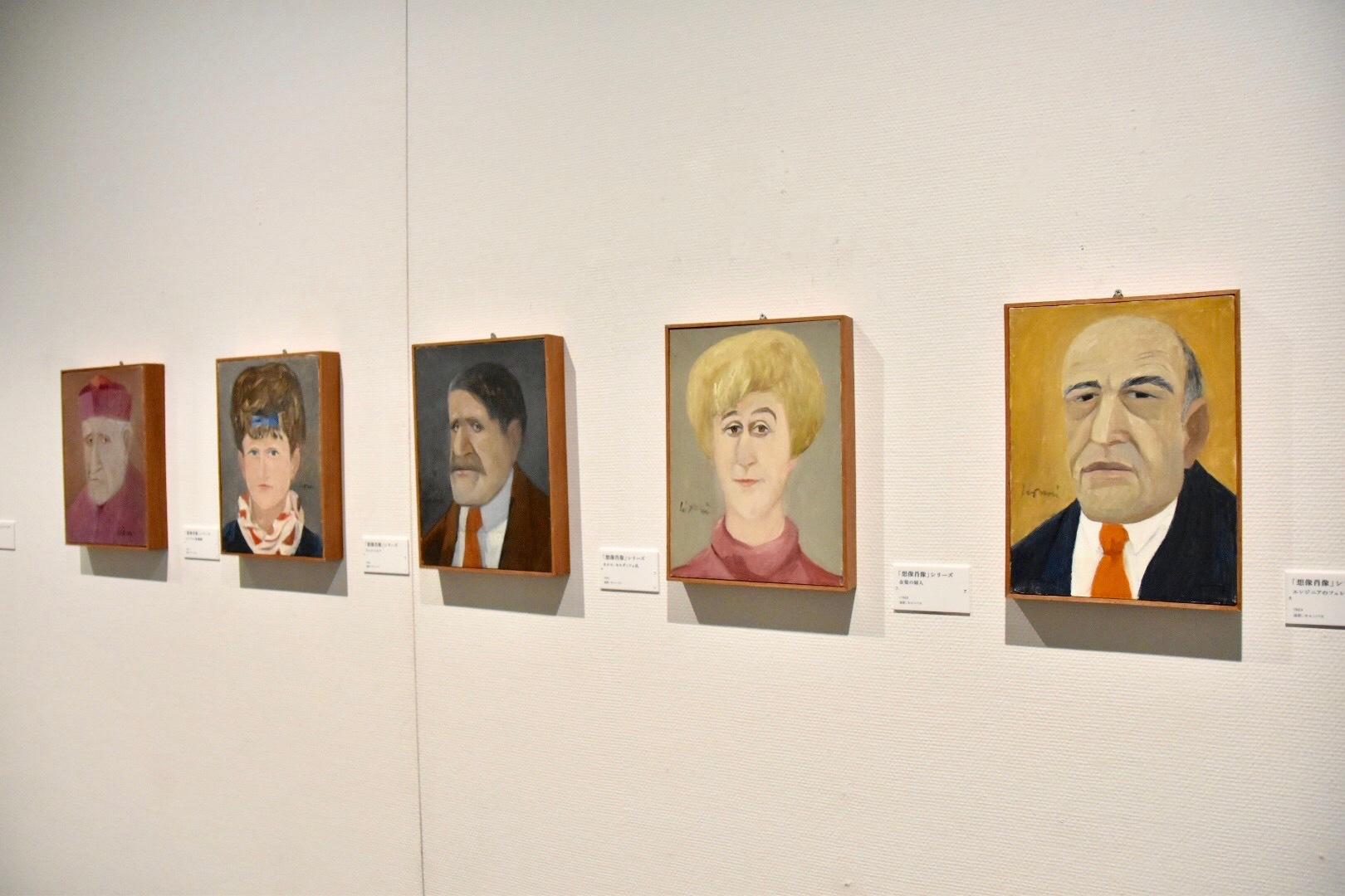「想像肖像」シリーズ 展示風景