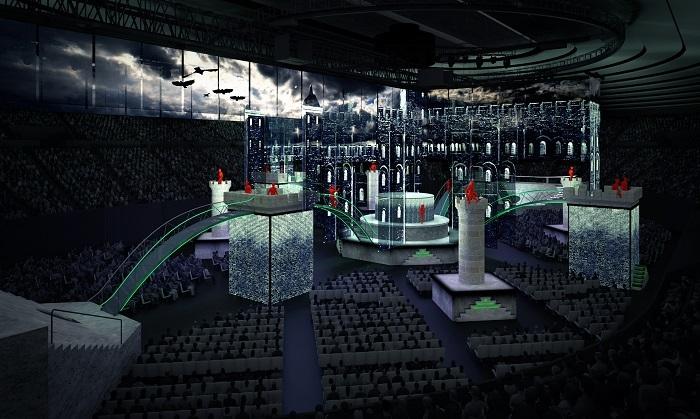 ステージ デザイン ストゥフィッシュ エンターテインメント アーキテクツ※デザイン・コンセプトのイメージ画のため、実際の舞台とは異なる可能性があります。