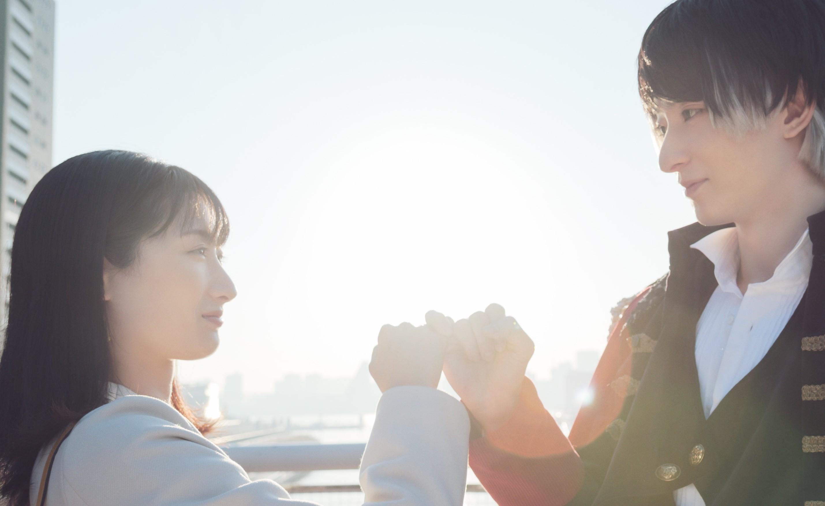 映画『ナポレオンと私』 左から、武田梨奈、濱正悟 (C)CYBIRD