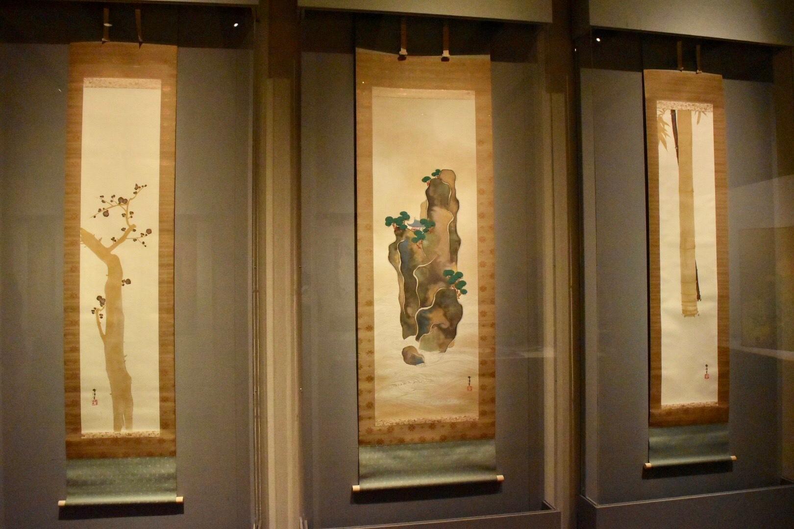 神坂雪佳 《蓬莱山・竹梅図》 20世紀(大正-昭和時代)