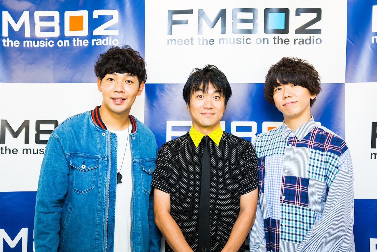 左:Rover(ベリーグッドマン)中:DJ飯室大吾(FM802) 右:片岡健太(sumika) 撮影:森好弘