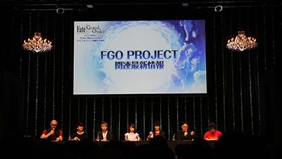 右から、DELiGHTWORKSからFate/Grand Orderマーケティングディレクター・バスター 石倉、FGO PROJECTクリエイティブプロデューサー・塩川洋介が登場