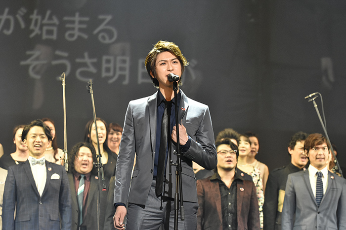 『レ・ミゼラブル』製作発表より 相葉裕樹 (撮影:原地達浩)
