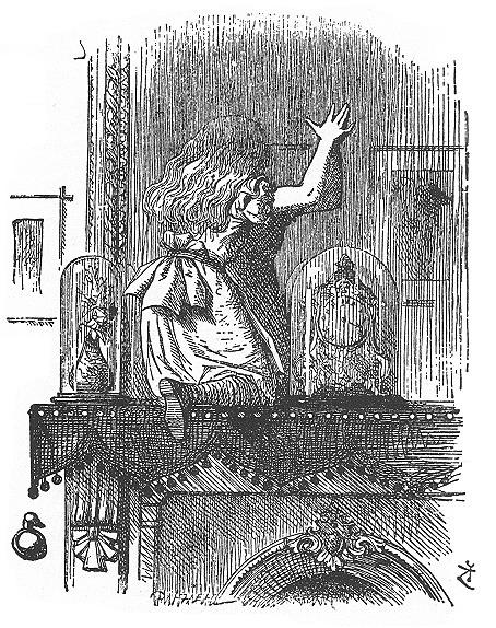鏡の国のアリス(Drawing by John Tenniel) 以下同