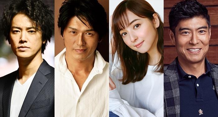 (左から)桐谷健太、高橋克典、佐々木希、髙嶋政宏