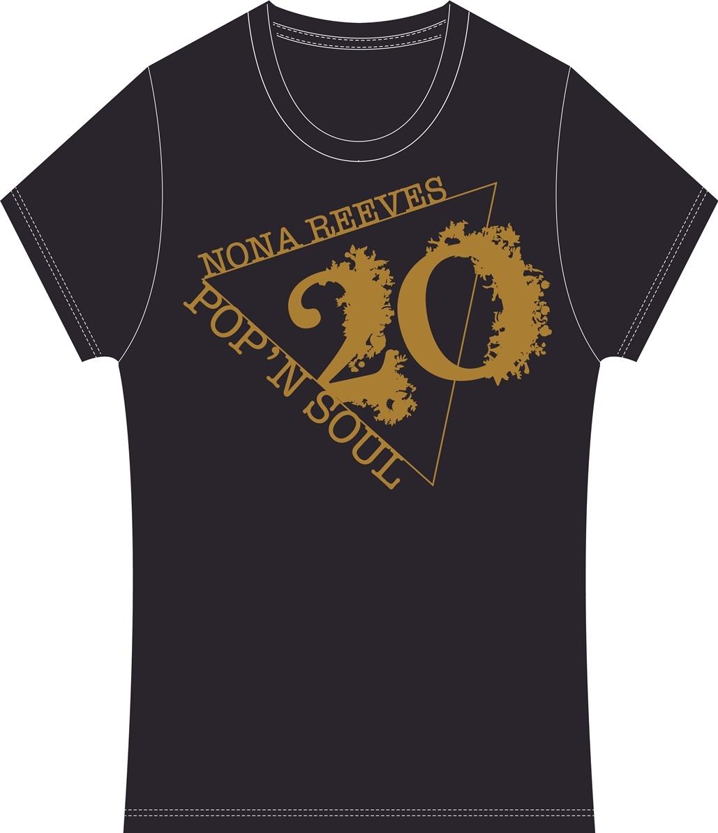 ノーナ・リーヴス 20周年記念デザイナーTシャツ「POP'N SOUL 20」