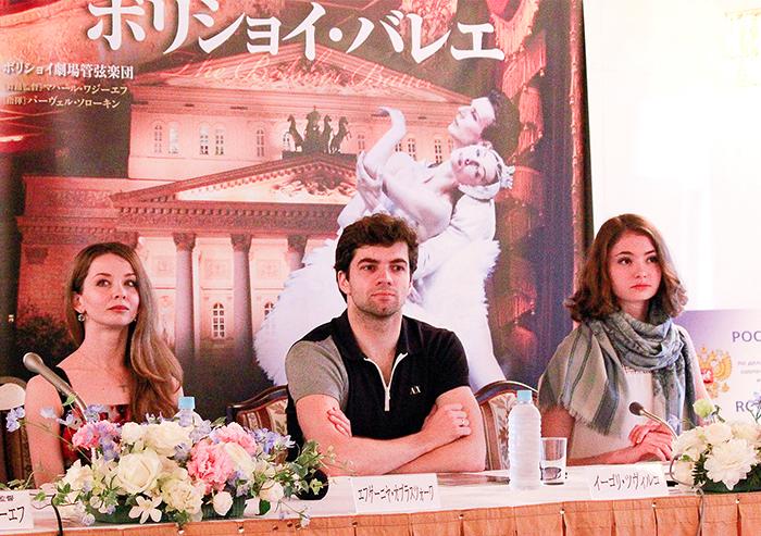 左からオブラスツォーワ、ツヴィルコ、コワリョーワ (撮影:西原朋未)