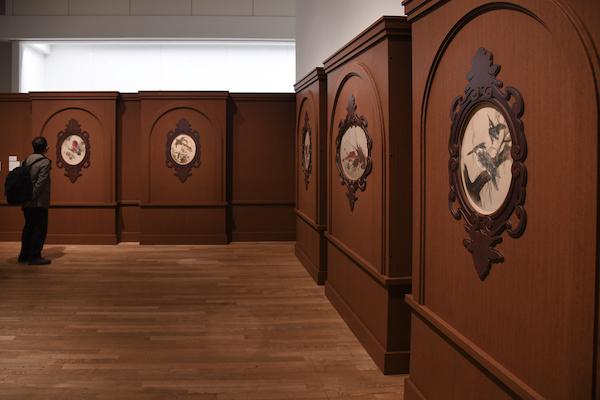 《迎賓館赤坂離宮 七宝額原画》前期展示風景 東京国立博物館蔵