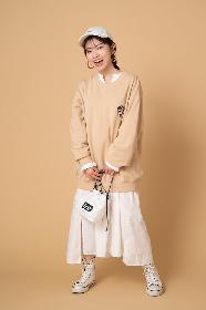 """石原夏織が""""Lee""""とコラボ 愛犬・むーちゃんの刺繍がポイントのスウェットが数量限定で発売"""