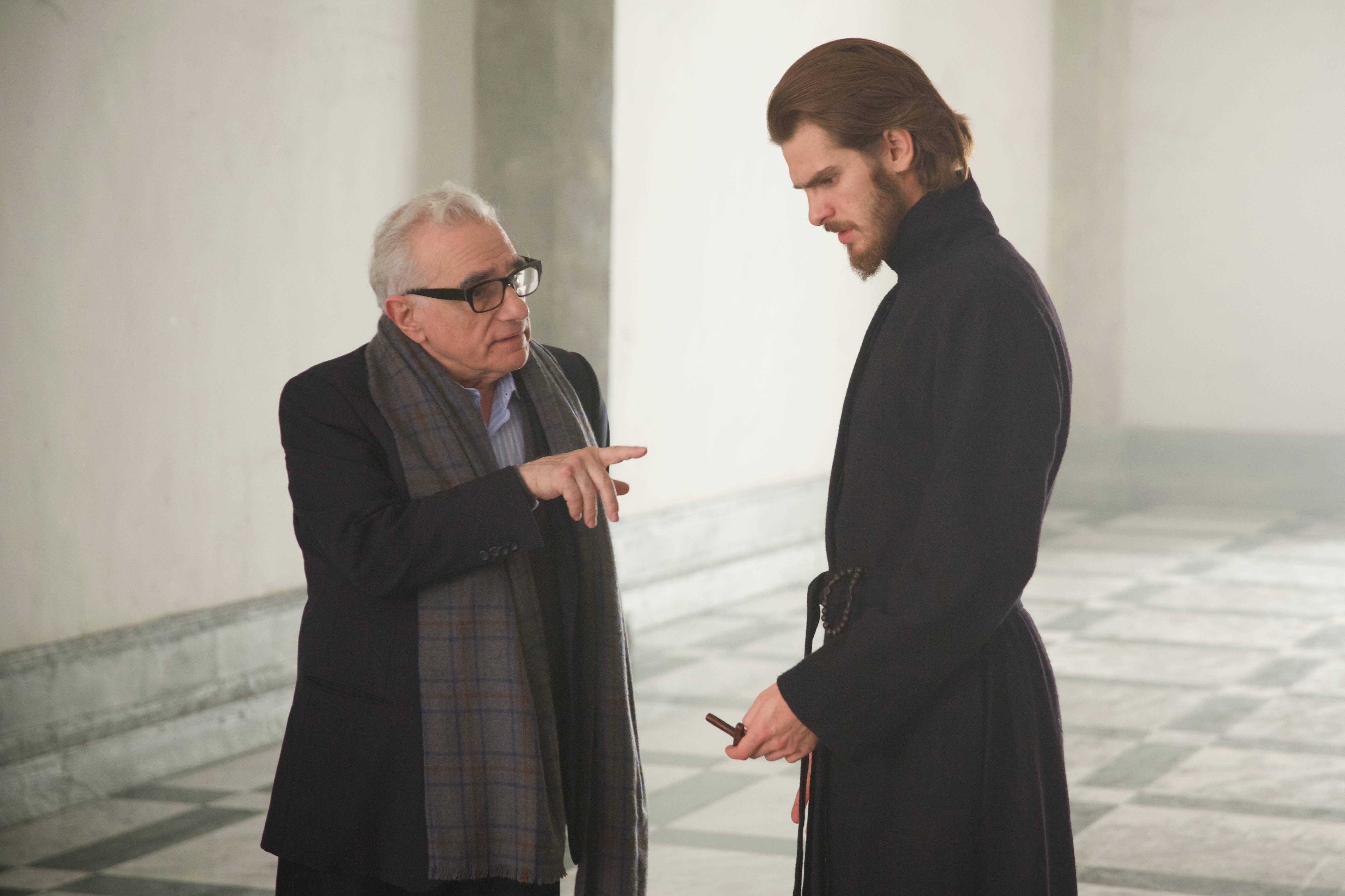 左から、マーティン・スコセッシ監督、アンドリュー・ガーフィールド Photo Credit Kerry Brown