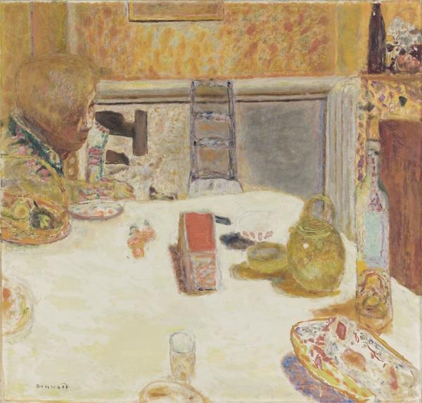 ピエール・ボナール《ル・カネの食堂》1932年 油彩、カンヴァス 96×100.7cm オルセー美術館(ル・カネ、ボナール美術館寄託) (C)Musée d'Orsay, Dist. RMN-Grand Palais / Patrice Schmidt / distributed by AMF