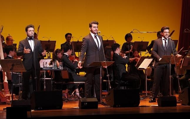 テノール・トリオ「IL VOLO(イル・ヴォーロ)」。左から、ジャンルカ、イニャツィオ、ピエロ