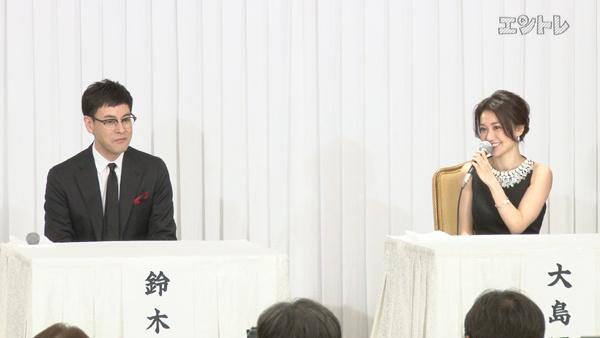 舞台「美幸」制作発表で話す鈴木浩介と大島優子