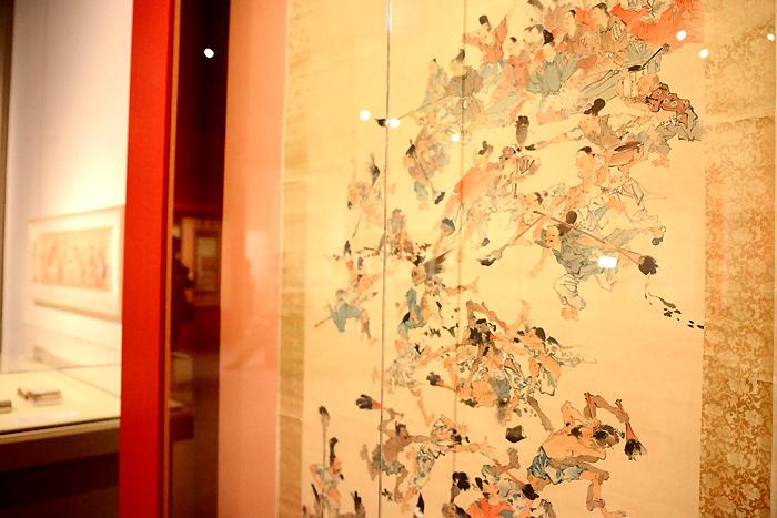 河鍋暁斎 《墨合戦》(部分) 明治4-22(1871-89)年 紙本着彩 イスラエル・ゴールドマン コレクション Israel Goldman Collection, London