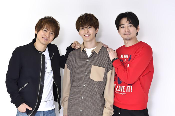 (左から)佐野瑞樹、矢部昌暉、株元英彰