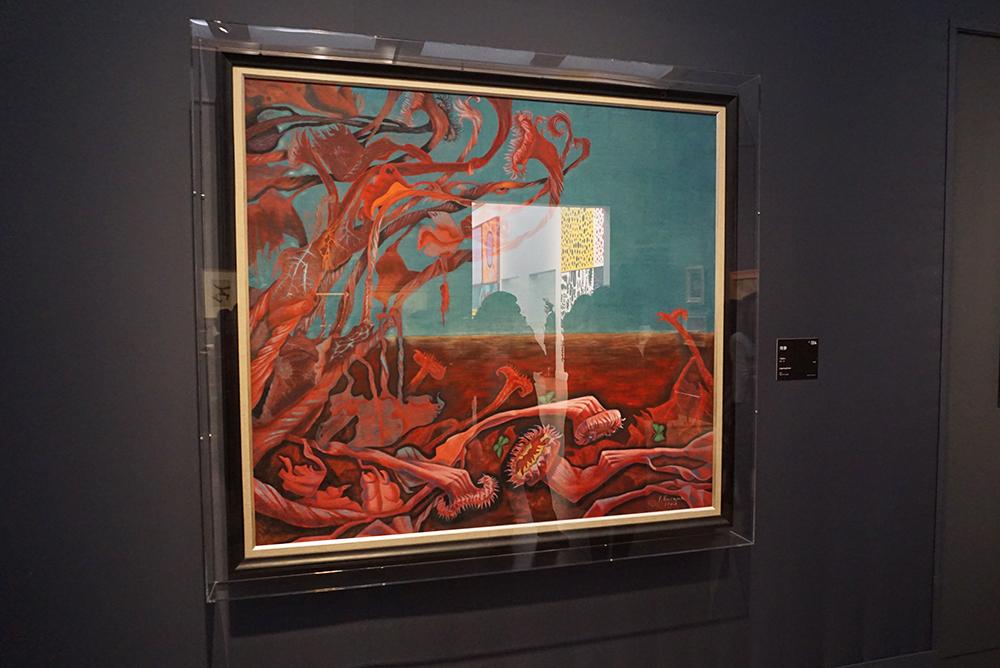 草間彌生『残夢』1949年 岩彩/紙 作家蔵 ©YAYOI KUSAMA