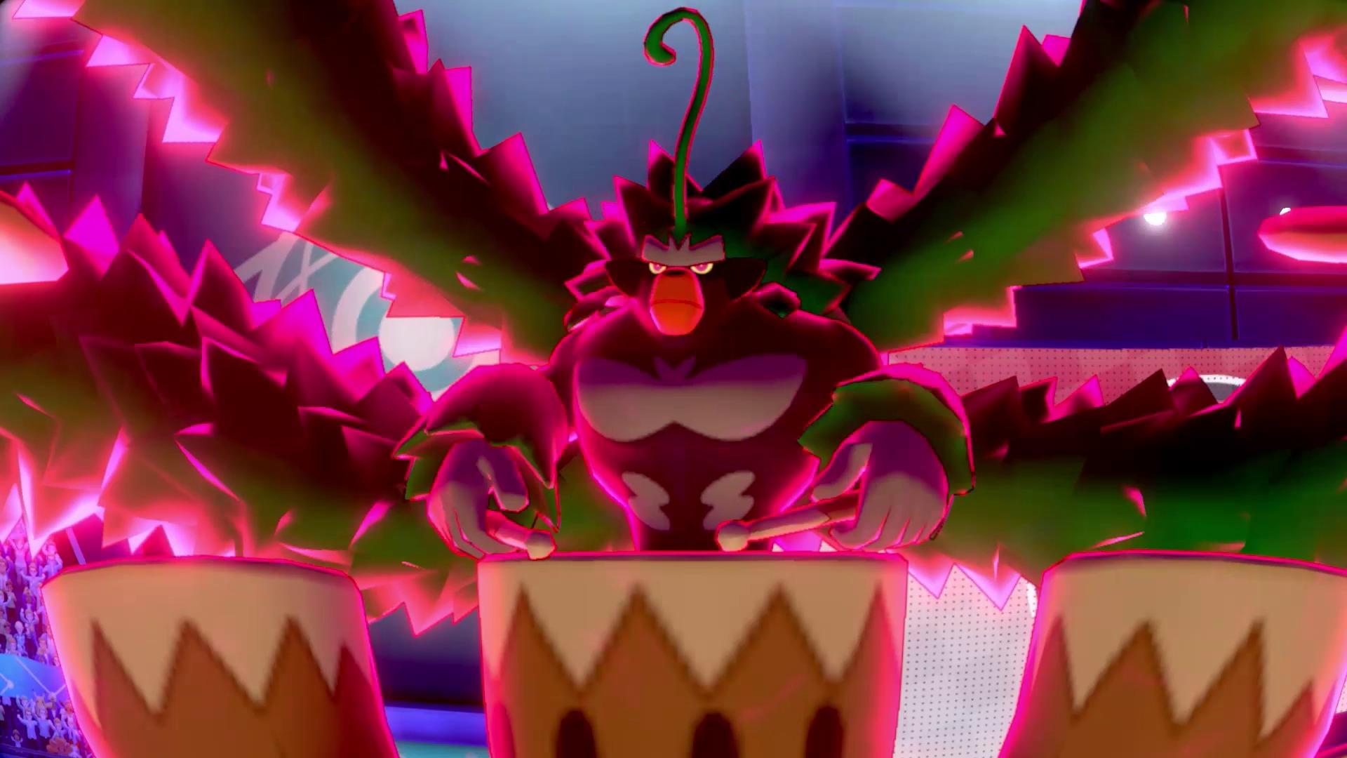 ゴリランダー(キョダイマックスのすがた)※画面は開発中のものです。 (c)2020 Pokémon. (c)1995-2020 Nintendo/Creatures Inc. /GAME FREAK inc.