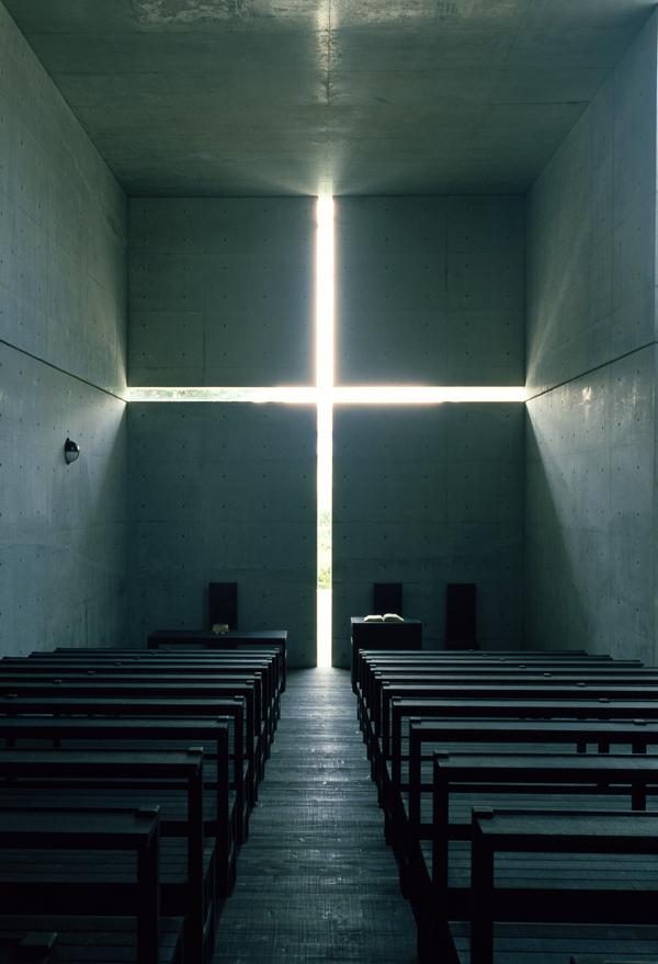 光の教会,1989年,大阪府茨木市 撮影:松岡満男