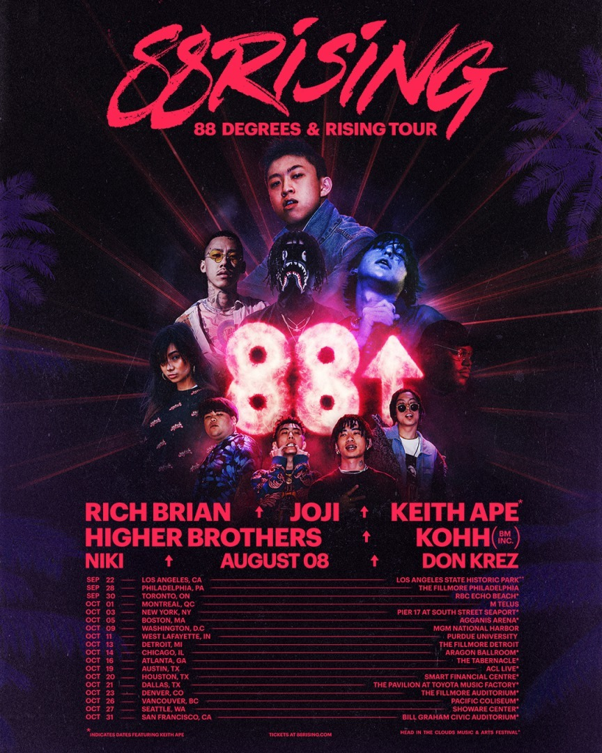 88rising『88 DEGREES & RISING TOUR』