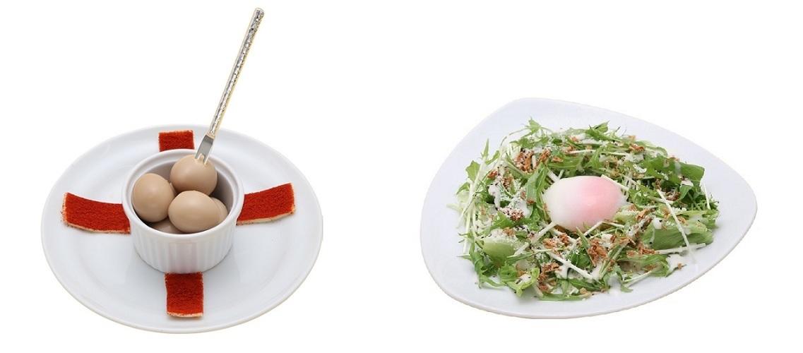 リリスうずら醤油漬け、水菜だから・・・水菜サラダ