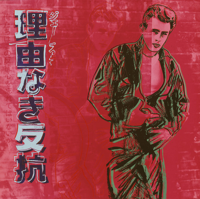 アンディ・ウォーホル『理由なき反抗(ジェームズ・ディーン)』 1985年 シルクスクリーン9色、9スクリーン 96.5x96.5cm