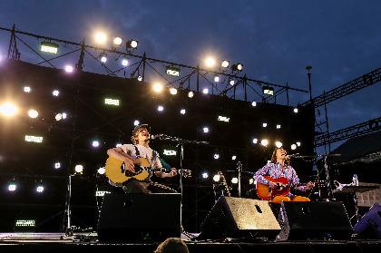 『OSAKA GENKi PARK』2日目オフィシャルライブレポート【もみじ川広場 LEFT STAGE】ーー若手からベテランまで、バンドから弾き語りまで、小川のせせらぎと一緒に耳を傾けたステージ