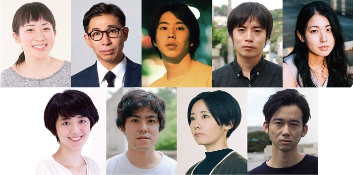 (上段左から)浅野千鶴、神⾕圭介、今野誠⼆郎、⽟⽥真也、 深澤しほ(下段左から)堀夏⼦、前原瑞樹、 森本華、⼭科圭太