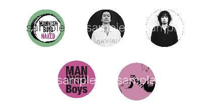 MANNISH BOYS 新作EP『Naked』ジャケット写真と特典缶バッジのデザイン公開