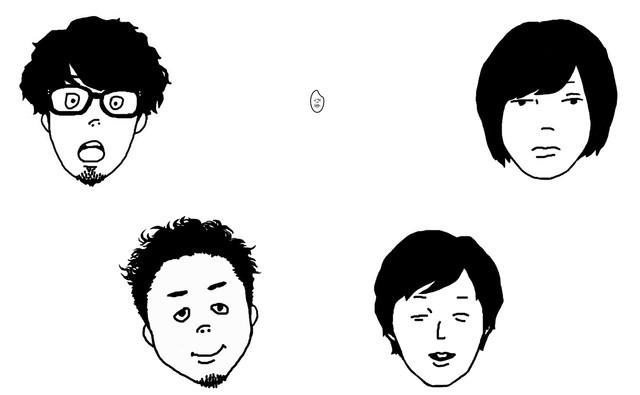 キュウソネコカミ。左がヨコタシンノスケ(Key, Vo)