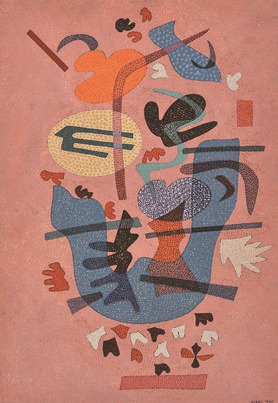 オットー・ネーベル《叙情的な答え》1940年、テンペラ・紙、オットーネーベル財団