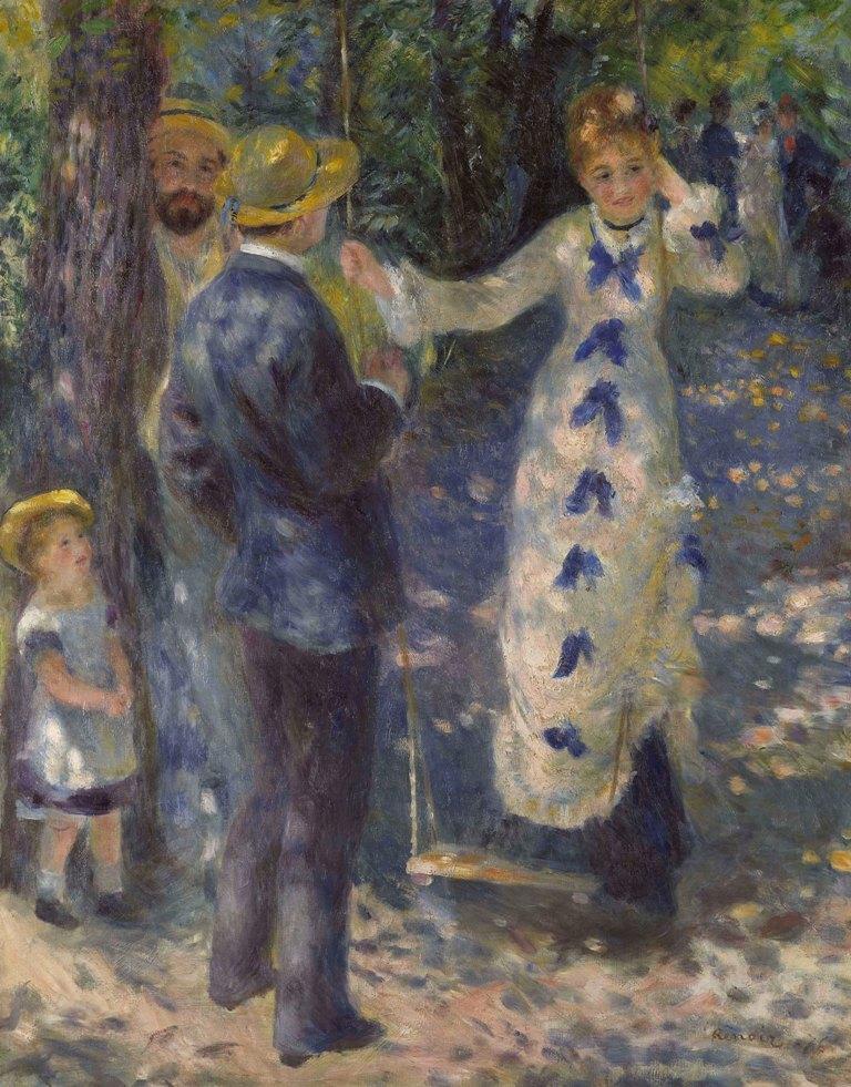 《ぶらんこ》 1876年 油彩/カンヴァス オルセー美術館 ©Musée d'Orsay, Dist. RMN-Grand Palais / Patrice Schmidt / distributed by AMF