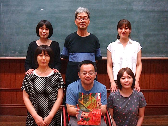 前列左から・佐々木淳子、はしぐちしん、中村京子 後列左から・広田ゆうみ、はせひろいち、香川倫子