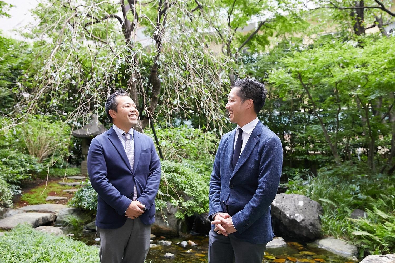 左から、夏目洋史東美青年会理事。池田祥三東美青年会理事長。
