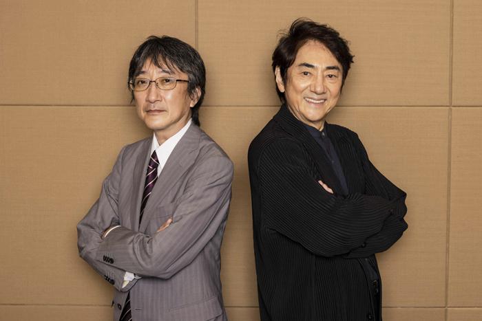 左から 堀義貴(株)ホリプロ社長、市村正親  (Photo:福岡諒祠)