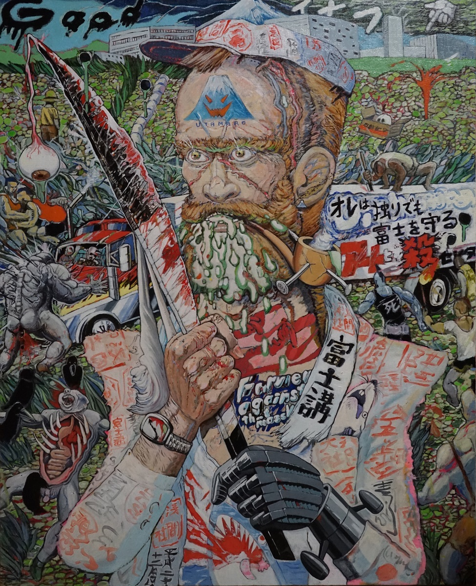 榎本耕一「富士山麓の戦士」、oil on canvas courtesy of TARO NASU