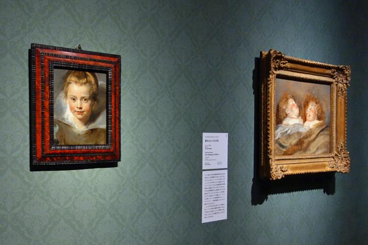 左よりペーテル・パウル・ルーベンス《クララ・セレーナ・ルーベンスの肖像》ファドゥーツ/ウィーン 、リヒテンシュタイン侯爵家コレクション/ペーテル・パウル・ルーベンス《眠るふたりの子供》東京、国立西洋美術館