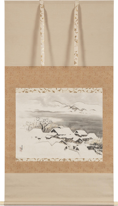 川合玉堂《雪景の図》 1950年代 パナソニック株式会社蔵