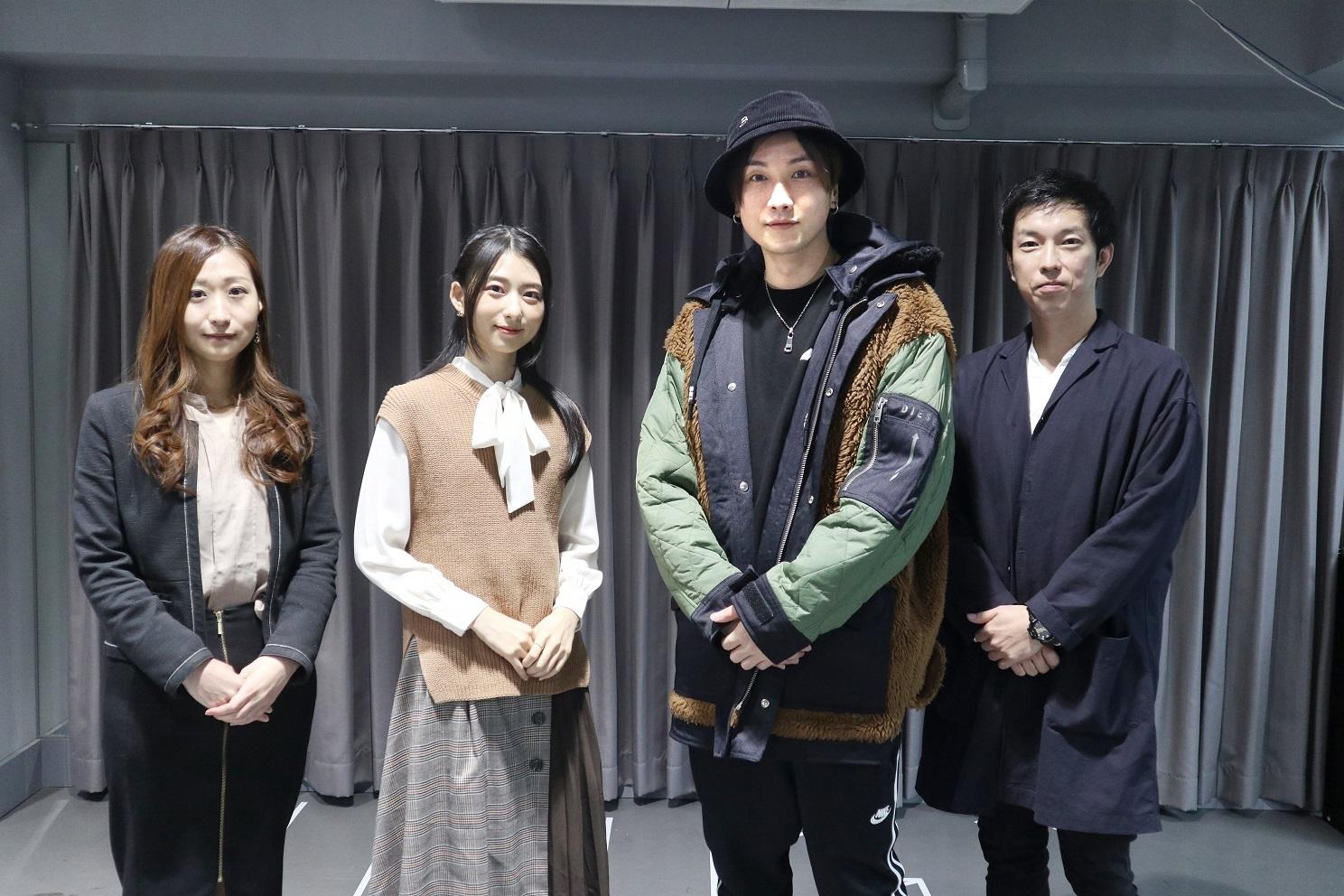 左から原作プロデューサー:神谷佐織、川村海乃、細貝圭、演出:大関真、