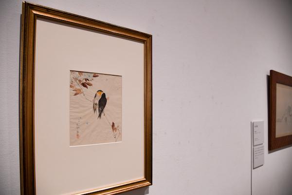 《鳥図(枝にとまる鳥)》 明治11年(1878) クラーク美術館(アメリカ)蔵