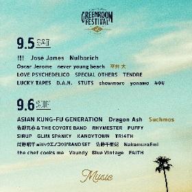 『GREENROOM FESTIVAL'20』日割りを発表 平井 大、Suchmosの出演も正式決定