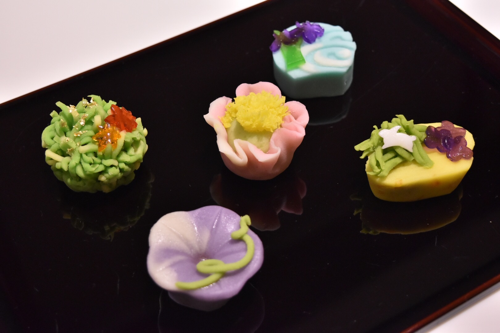 Cafe椿で味わえる和菓子5種